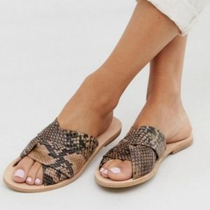 Free People Rio Vista Python Print Slide Sandals